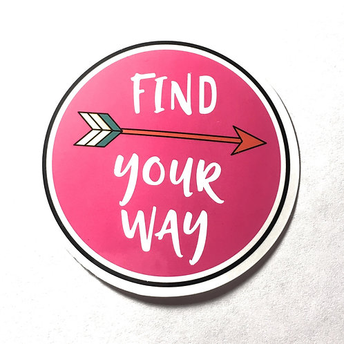 Find Your Way Sticker