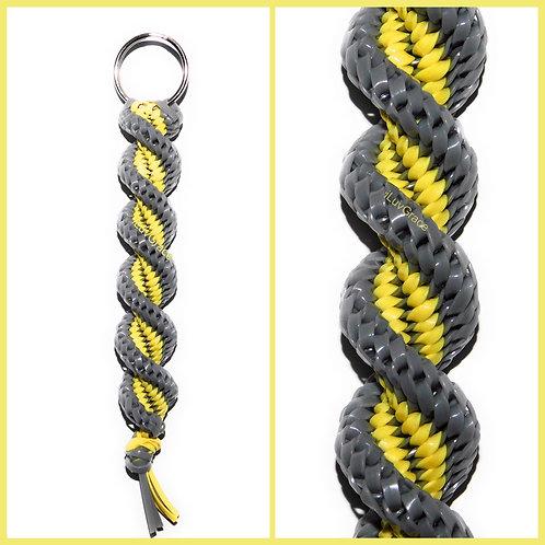 Grey & Yellow Keychain