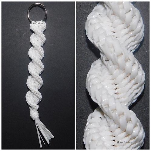 White Keychain