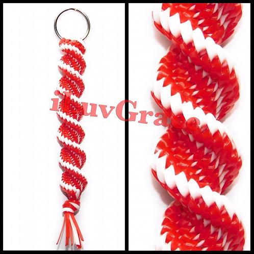 Red & Whit Keychain