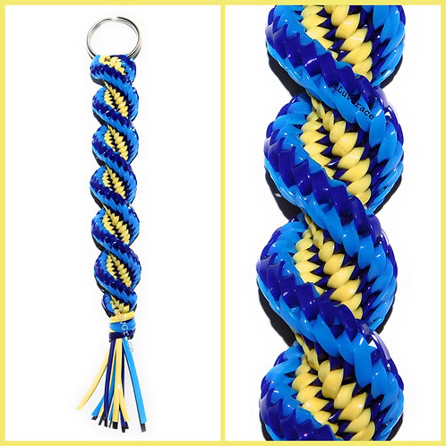 Neon Blue, Purple, and Yellow Keychain