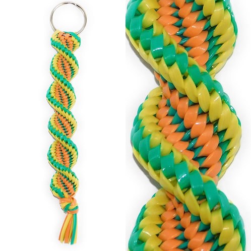 Coral, Turquoise & Yellow KeyChain