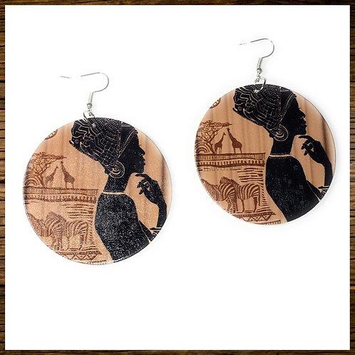 Wooden Earrings Ethnic Women
