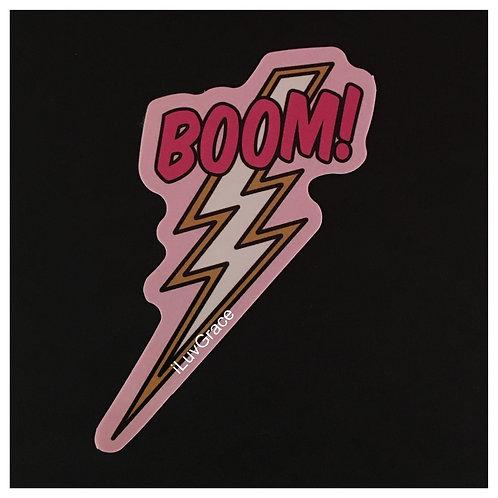 Sticker ~ BOOM! Zig-Zag ~