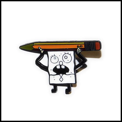Doodle Bob Enamel Pin