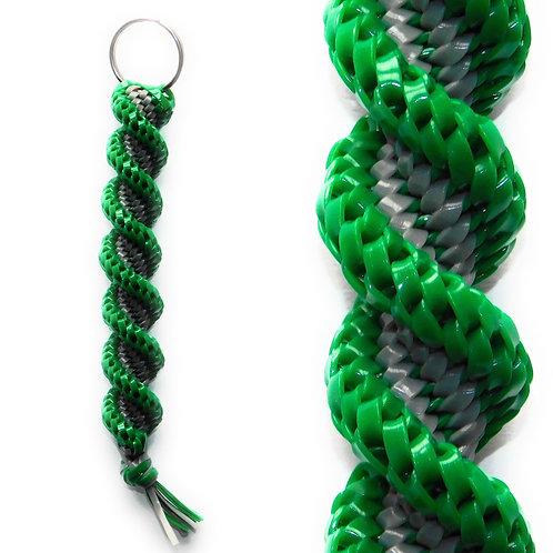 Green & Grey Keychain