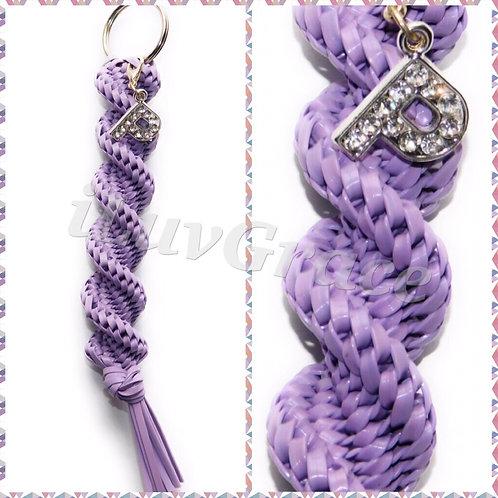 Lavender Keychain + Letter P Cham