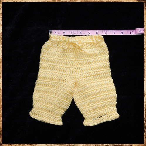 Crochet Newborn Yellow Pants