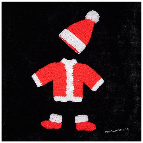 Crochet Santa Outfit