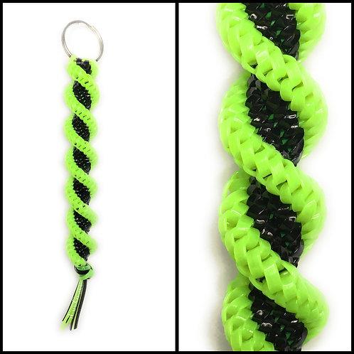 Apple Green & Black Keychain