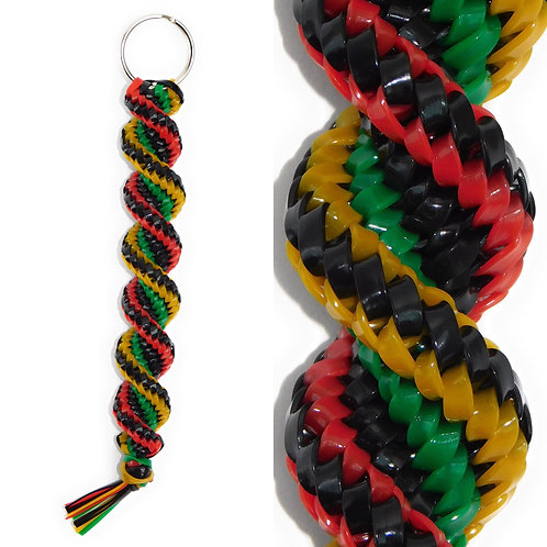 Black, Green, Red & Yellow KeyChain