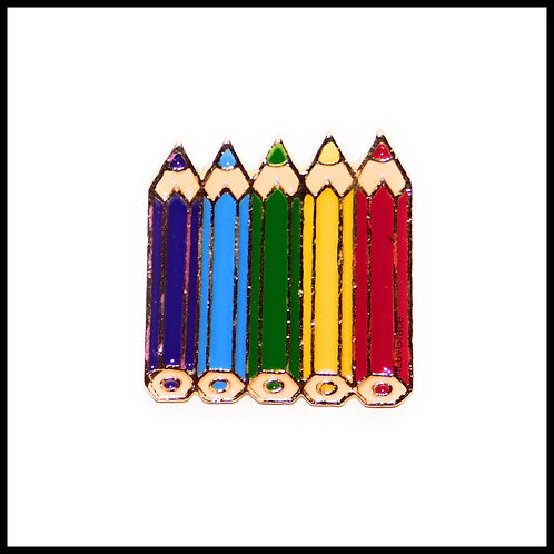 Rainbow Pencils Enamel Pins
