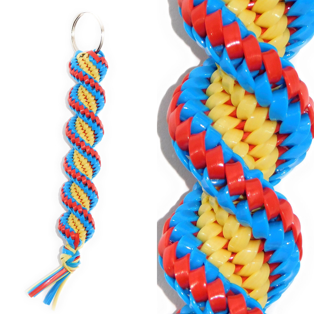 Blue, Red & Yellow KeyChain