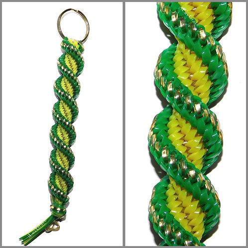 Gold, Green & Yellow Keychain