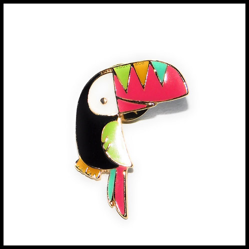 Tropical Bird Enamel Pin