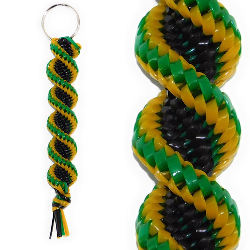 Black, Golden & Green KeyChain