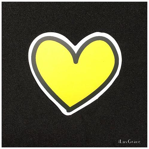 Sticker ~ Yellow Heart ~