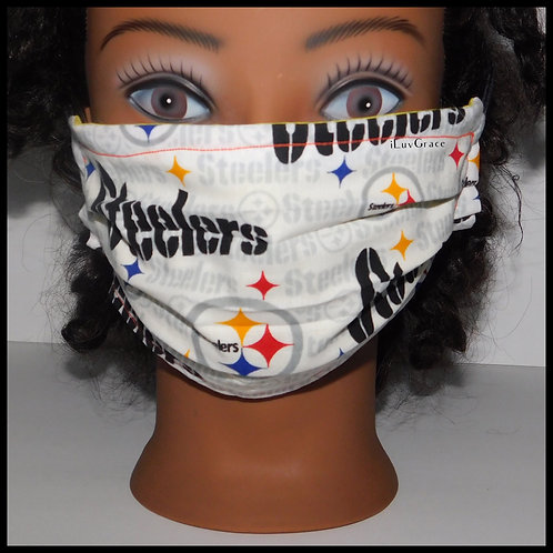 Handmade Non-Medical Face Mask ~ Steelers ~ SAME or NEXT DAY SHIPPING