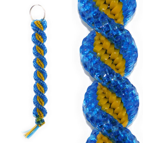 Clear Blue & Golden Keychain
