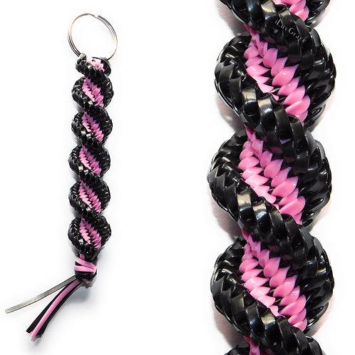 Pearl Black & Light Pink Keychain