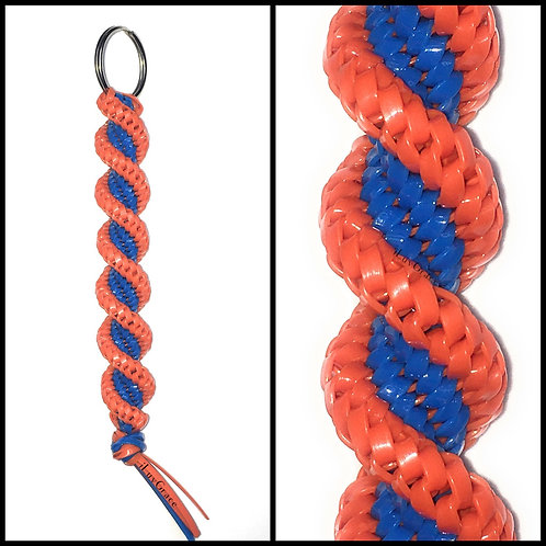 Neon Blue & Orange KeyChain