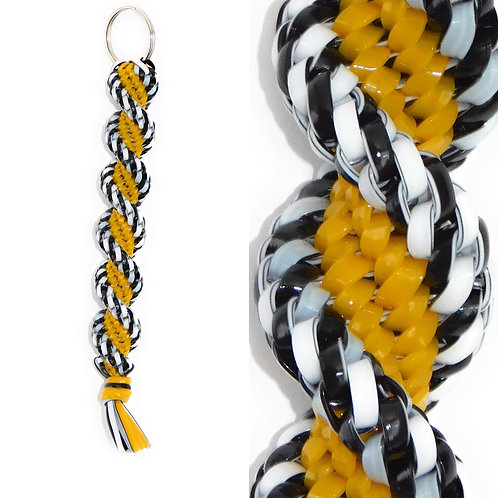Black/White & Golden KeyChain