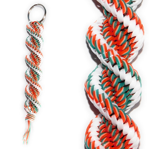 Turquoise, Orange & White KeyChain