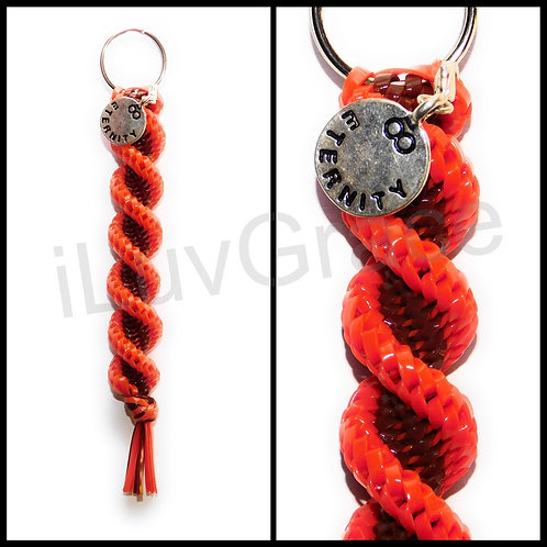 Orange & Brown Keychain + Eternity Charm