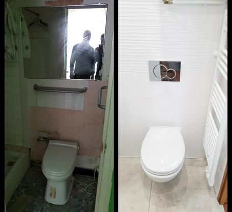 WC avant/après
