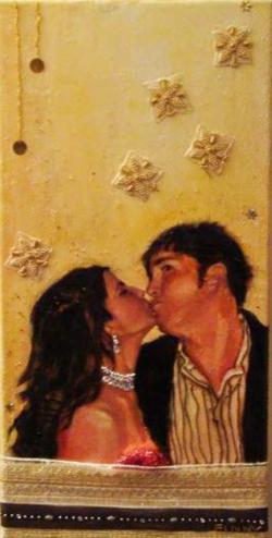 Dave and RaRa Kissing