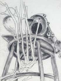 Still Ife with Branch and Stool