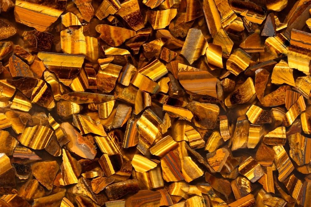 Полудрагоценный камень Tiger Eye Gold фото