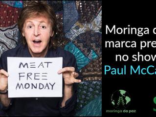 Moringa da Paz marca presença na turnê de Paul McCartney em São Paulo