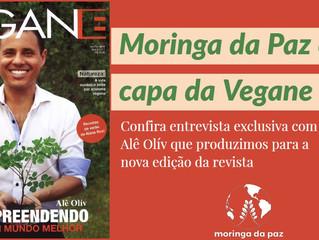 Moringa da Paz é capa da Revista Vegane