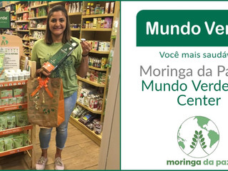 Mundo Verde Top Center alavanca vendas da Moringa da Paz
