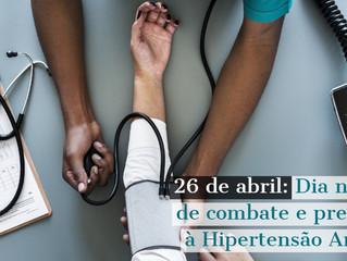 Moringa da Paz informa: 26 de abril - Dia Nacional de combate e prevenção à Hipertensão Arterial