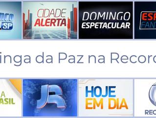 Moringa da Paz prestigia Record TV