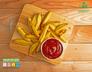 Batata rústica com alecrim e páprica e ketchup caseiro
