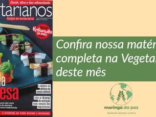 Moringa da Paz na revista Vegetarianos