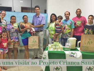 O Projeto Criança Saudável segue com mais uma visita às famílias