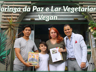 Moringa da Paz presenteia Lar Vegetariano Vegan