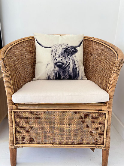Indoor cushion COVER ONLY - Bovine monochrome solo (45x45cm)