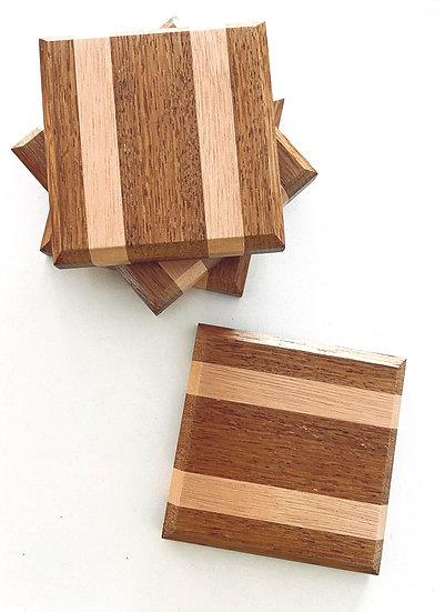 Highfield Wood Tones Coasters - set of 4