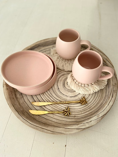 Side Bowl & Plate - PINK STACK, SERVE & STORE