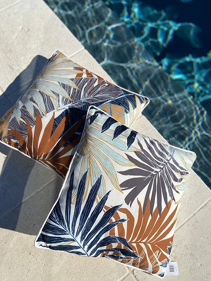 Outdoor cushion - Autumn palm fronds dark (45x45cm)