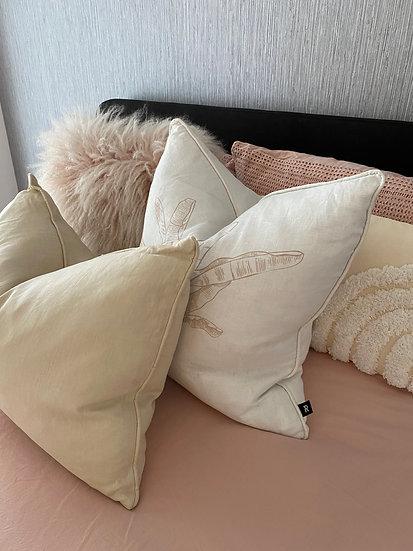 Sandstone Linen Rectangular Cushion