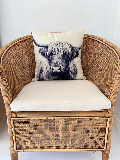 Indoor cushion COVER ONLY - Bovine monochrome (45x45cm)