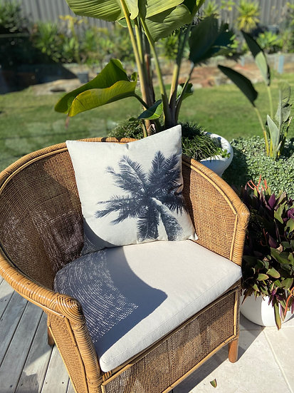 Coco sky palm Indoor cushion COVER ONLY - (45x45cm)