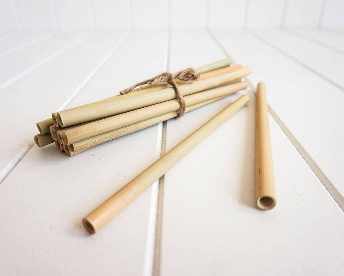 Bamboo straws - Set 12 (20cm)