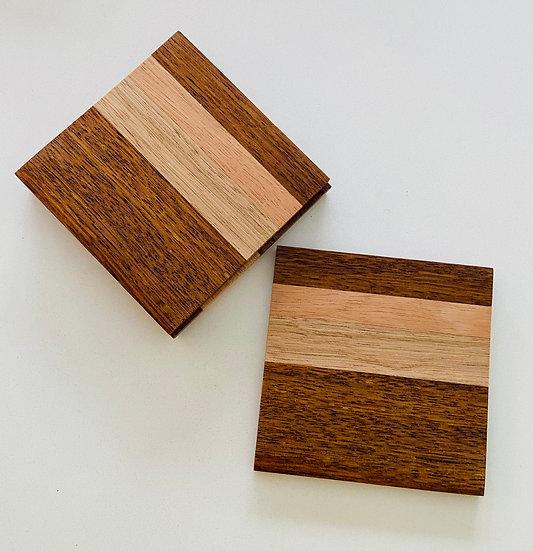 Hove Wood Tones Coasters - set of 4